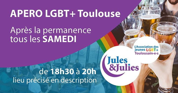 Apéro LGBT+ Toulouse - Jules & Julies in Toulouse le Sat, June  1, 2019 from 06:30 pm to 08:00 pm (Meetings / Discussions Gay, Lesbian)