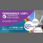 Permanence LGBT+ Univ Jean Jau - Jules & Julies à Toulouse le jeu. 28 mars 2019 de 12h30 à 14h00 (Rencontres / Débats Gay, Lesbienne)