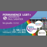 Permanence LGBT+ Univ Paul Sab - Jules & Julies in Toulouse le Thu, January 24, 2019 from 06:00 pm to 09:00 pm (Meetings / Discussions Gay, Lesbian)