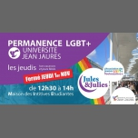 Permanence LGBT+ Univ Jean Jau - Jules & Julies in Toulouse le Thu, November 22, 2018 from 12:30 pm to 02:00 pm (Meetings / Discussions Gay, Lesbian)