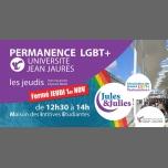 Permanence LGBT+ Univ Jean Jau - Jules & Julies à Toulouse le jeu. 22 novembre 2018 de 12h30 à 14h00 (Rencontres / Débats Gay, Lesbienne)