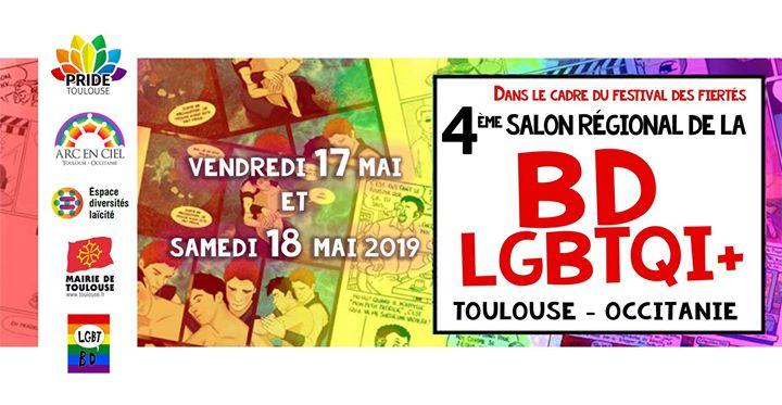 4ème Salon Régional de la BD Lgbtqi+ en Tolosa le vie 17 de mayo de 2019 14:30-19:00 (Reuniones / Debates Gay, Lesbiana, Oso)