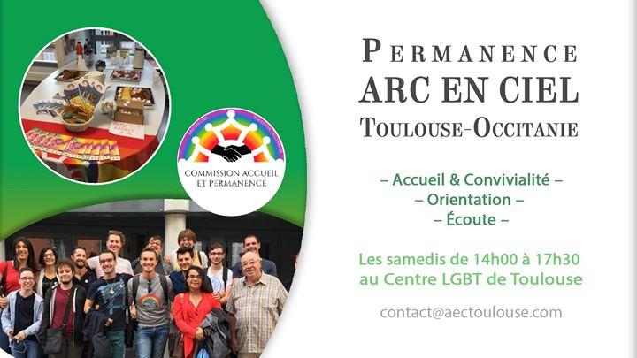 Permanence ARC EN CIEL Toulouse/Occitanie in Toulouse le Sat, May 18, 2019 from 02:00 pm to 05:30 pm (Meetings / Discussions Gay, Lesbian, Bear)