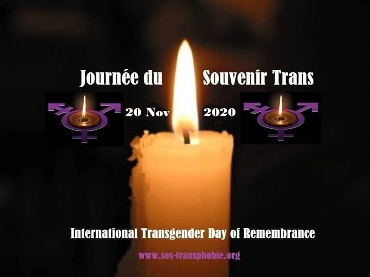 Journée du Souvenir Trans ( TDOR ) le 20 novembre 2020 in Toulouse le Fri, November 20, 2020 from 12:00 am to 11:59 pm (Meetings / Discussions Gay, Lesbian, Bear)