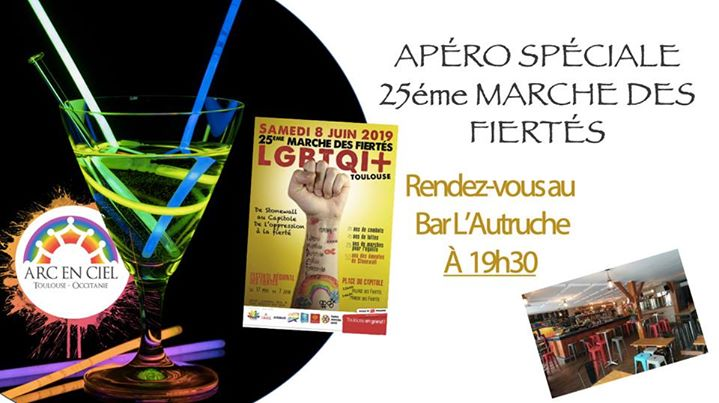 "Apéro AEC Mois De Mai ""Spéciale 25éme Marche Des Fiertés"" in Toulouse le Fri, May 10, 2019 from 07:30 pm to 11:00 pm (Meetings / Discussions Gay, Lesbian, Bear)"