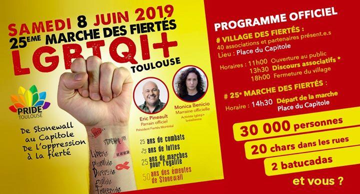 Marche des Fiertés 2019 - Toulouse Occitanie en Tolosa le sáb  8 de junio de 2019 11:00-18:00 (Marchas / Desfiles Gay, Lesbiana, Trans, Bi)
