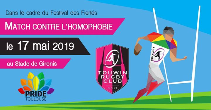 Match contre l'homophobie le 17 mai 2019 in Toulouse le Fri, May 17, 2019 from 08:00 pm to 10:00 pm (Sport Gay, Gay Friendly, Hetero Friendly, Bear, Bi)