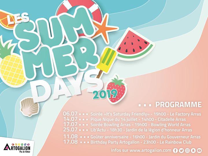 Les journées Summer Days 2019 em Arras le dom, 11 agosto 2019 16:00-20:00 (Clubbing Gay, Lesbica, Hetero Friendly, Trans, Bi)