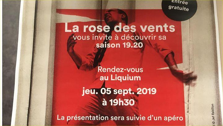 里尔Présentation de la saison 2019-2020 de la Rose des Vents2019年 7月 5日,19:30(男同性恋, 女同性恋, 异性恋友好 下班后的活动)