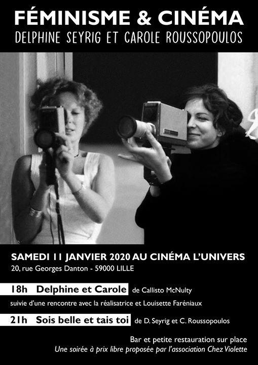 Féminisme et Cinéma : Delphine Seyrig et Carole Roussopoulos em Lille le sáb, 11 janeiro 2020 17:30-23:30 (Reuniões / Debates Lesbica)