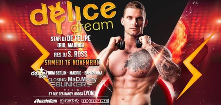 Delice DREAM - Gay Évent in Lyon le Sat, November 16, 2019 from 11:00 pm to 06:00 am (Clubbing Gay Friendly)