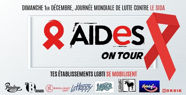 Aides On Tour pour le 1er Déc en Lila le vie  6 de diciembre de 2019 22:00-01:00 (Prevención de salud Gay Friendly)