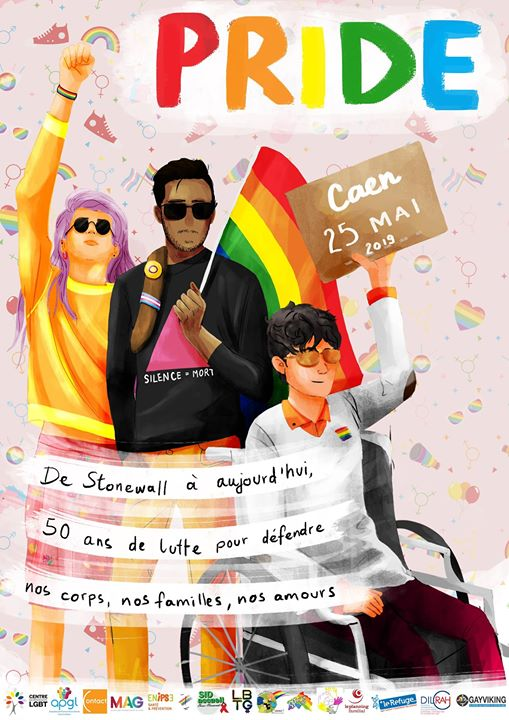 Marche des Fiertés LGBTI - Caen in Caen le Sat, May 25, 2019 from 01:00 pm to 06:30 pm (Parades Gay, Lesbian)