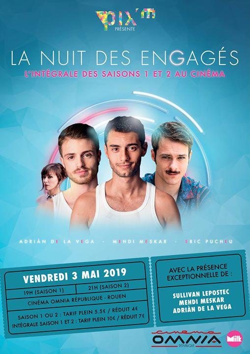 La nuit des engagés in Rouen le Fr  3. Mai, 2019 18.00 bis 02.00 (Kino Gay, Lesbierin)