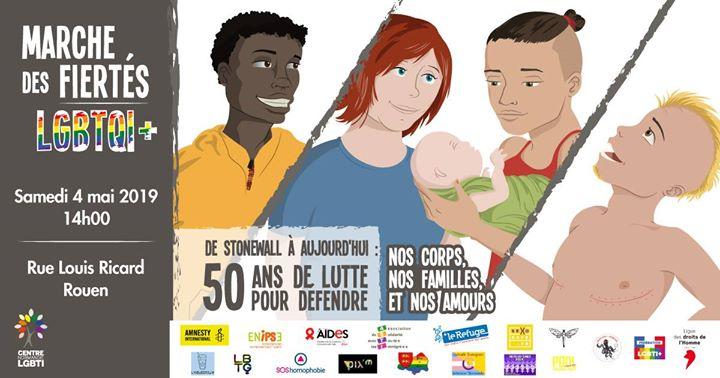 Marche Des Fiertés Lgbtqi + de Rouen in Rouen le Sa  4. Mai, 2019 14.00 Uhr (Paraden / Umzügen Gay, Lesbierin, Transsexuell, Bi)