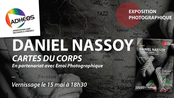 "Exposition ""Cartes du Corps"" de Daniel Nassoy ADHEOS Angoulême in Angoulême le Thu, May 23, 2019 from 02:00 pm to 06:30 pm (Expo Gay, Lesbian)"
