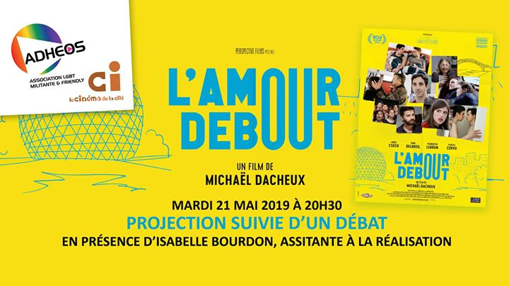 "Projection-Débat ""L'amour Debout"" en présence d'Isabelle Bourdon in Angoulême le Tue, May 21, 2019 from 08:30 pm to 11:00 pm (Cinema Gay, Lesbian)"