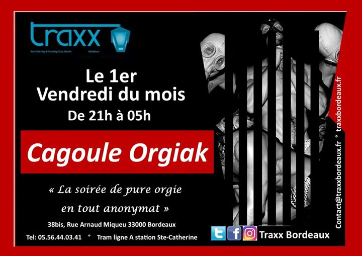 Cagoule Party in Bordeaux le Fri, November  1, 2019 from 09:00 pm to 05:00 am (Sex Gay)