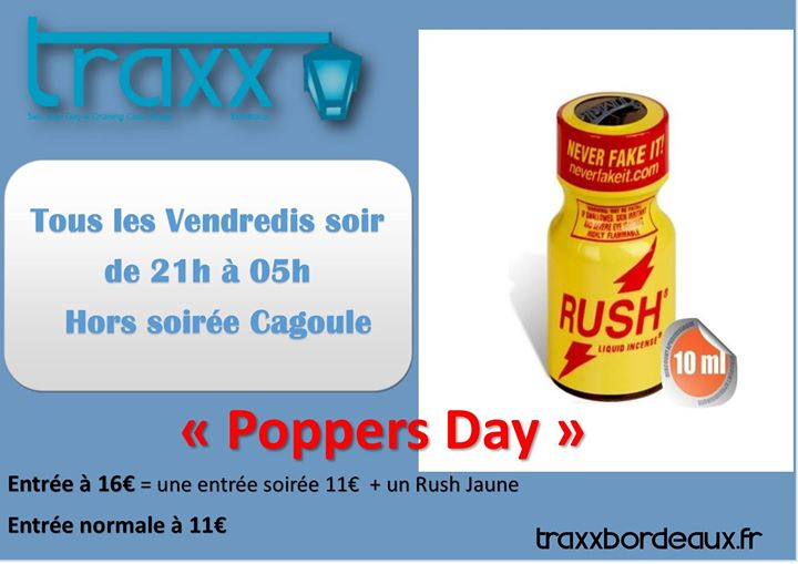 Poperrs Day a Bordeaux le ven 23 agosto 2019 21:00-05:00 (Sesso Gay)
