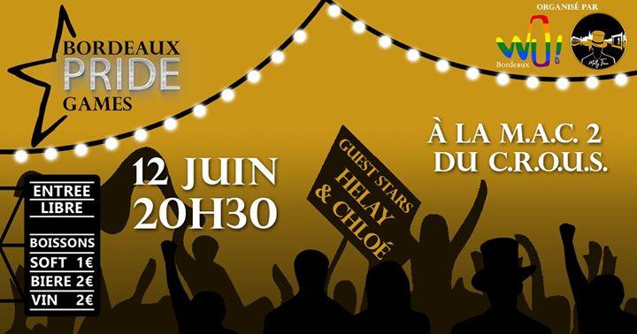 Bordeaux Pride Games a Gradignan le mer 12 giugno 2019 20:30-22:30 (After-work Gay, Lesbica, Etero friendly, Trans, Bi)
