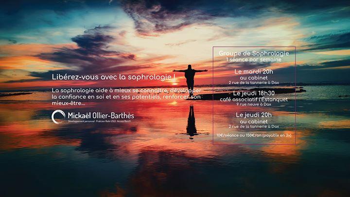 Relaxation-Sophrologie @Estanquet em Dax le qui, 10 outubro 2019 18:30-19:30 (Workshop Gay, Lesbica, Trans, Bi)