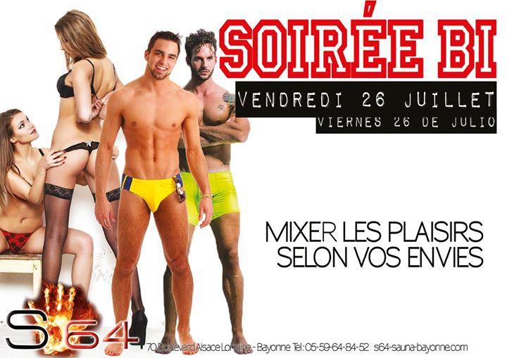 Soirée Bi a Bayonne le ven 26 luglio 2019 21:00-02:00 (Sesso Gay friendly)