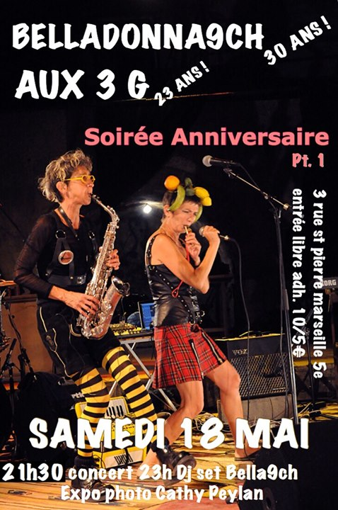 Bon Anniversaire aux Belladonna9ch et Aux 3G ! in Marseilles le Sat, May 18, 2019 from 08:00 pm to 02:00 am (After-Work Lesbian)