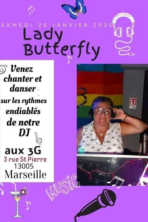 karaoke par lady butterfly in Marseille le Sa 25. Januar, 2020 21.00 Uhr (After-Work Lesbierin)