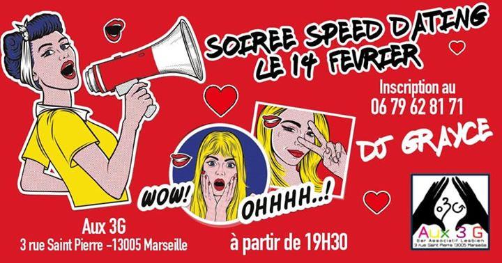 SPEED Dating entre filles pour la Saint Valentin a Marsiglia le ven 14 febbraio 2020 19:30-23:59 (After-work Lesbica)