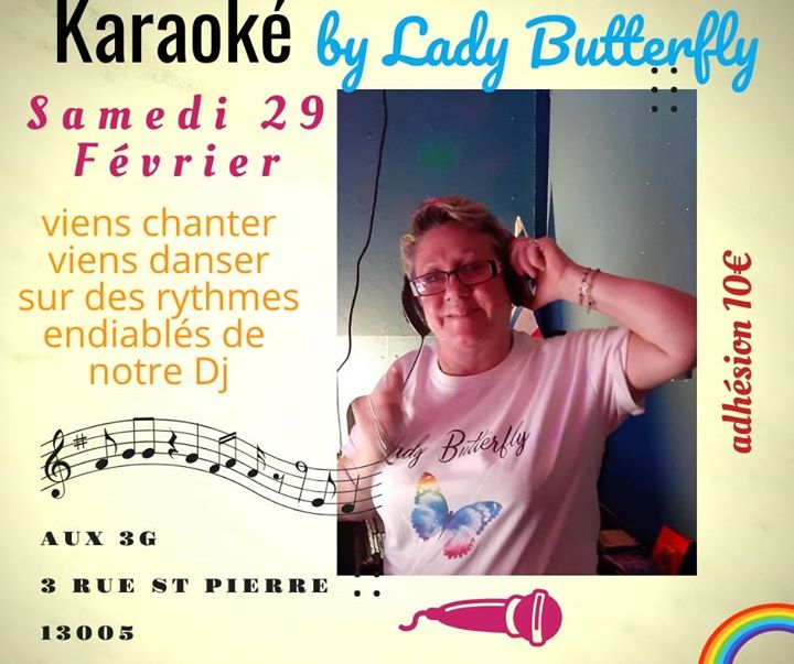 Karaoké by Lady Butterfly in Marseille le Sa 29. Februar, 2020 20.00 bis 02.00 (After-Work Lesbierin)