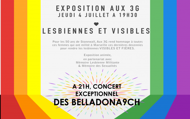 Lesbiennes et Visibles / Belladonna - Pride - Aux 3g in Marseille le Do  4. Juli, 2019 19.30 bis 00.00 (After-Work Lesbierin)