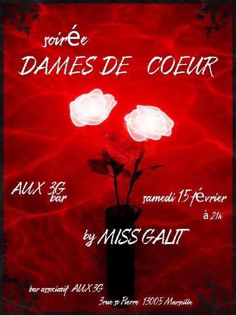 Soirée Dames de Coeur par Miss GALIT a Marsiglia le sab 15 febbraio 2020 21:00-02:00 (After-work Lesbica)