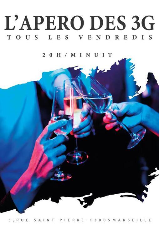 L'apéro des 3G à Marseille le ven. 28 février 2020 de 20h00 à 23h59 (After-Work Lesbienne)