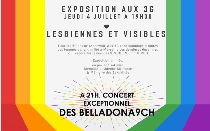 Expo Lesbiennes et visibles + Belladonna9ch in Marseille le Do  4. Juli, 2019 19.30 bis 00.30 (After-Work Lesbierin)