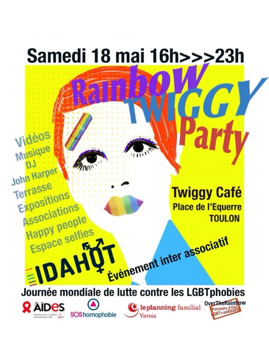 Rainbow Twiggy Party à Toulon le sam. 18 mai 2019 de 16h00 à 23h00 (After-Work Gay, Lesbienne, Hétéro Friendly, Trans, Bi)