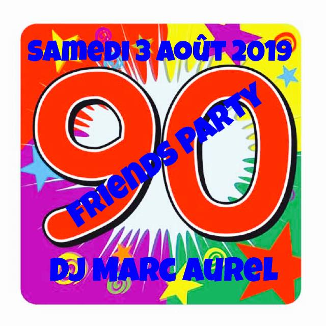 Soirée 90 Friends Party a Marsiglia le sab  3 agosto 2019 alle 22:00 (After-work Gay friendly)