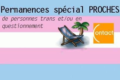 Permanences Transat spécial Proches de personnes trans à Marseille le mer.  1 avril 2020 de 18h00 à 21h00 (Rencontres / Débats Gay, Lesbienne)