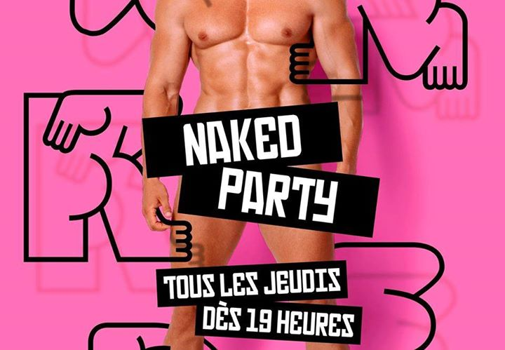 Naked Party - Tous les jeudis en Marsella le jue 23 de enero de 2020 19:00-02:00 (Sexo Gay)