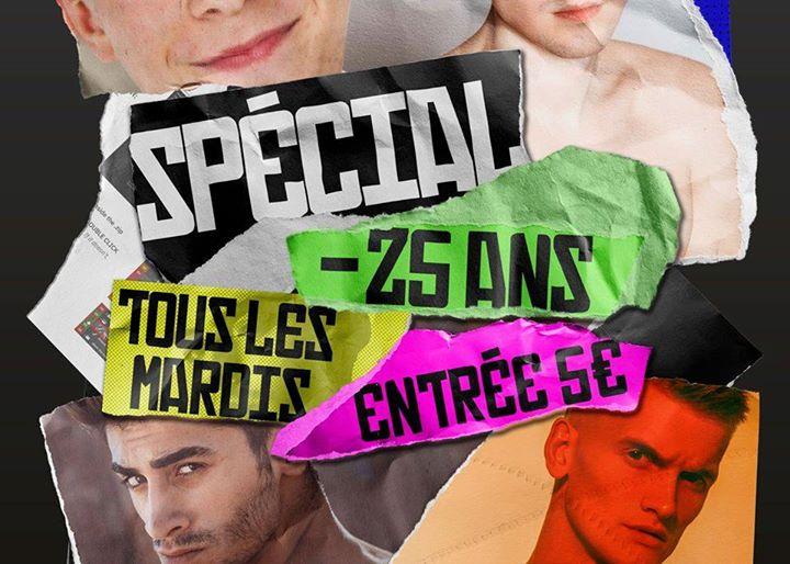 Spécial -25 ans - Tous les mardis en Marsella le mar 18 de febrero de 2020 12:00-02:00 (Sexo Gay)
