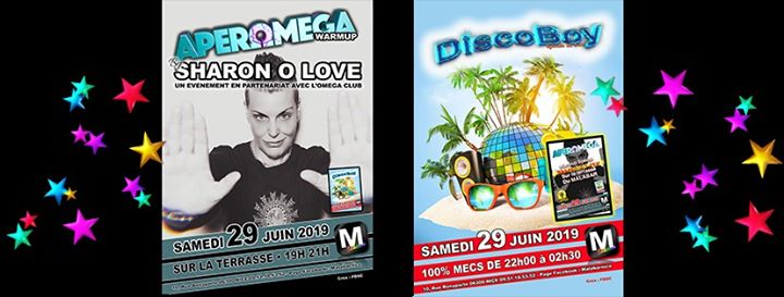 Apéromega et Discoboy in Nice le Sat, June 29, 2019 from 07:00 pm to 02:30 am (After-Work Gay)