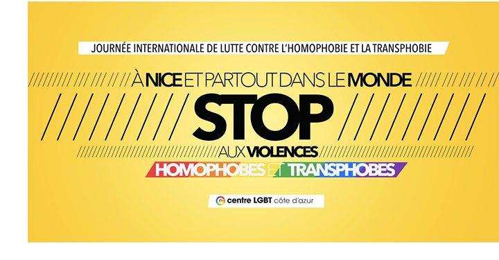 Nice : Stop aux violences LGBT-phobes ! à Nice le ven. 17 mai 2019 de 18h00 à 19h00 (Rencontres / Débats Gay, Lesbienne)