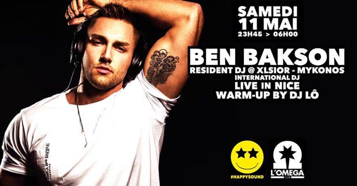 Happy Sound by BEN BAKSON in Nice le Sa 11. Mai, 2019 23.45 bis 06.00 (Clubbing Gay)