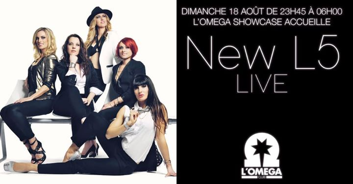 New L5 Live L'Oméga ShowCase in Nice le Sun, August 18, 2019 from 11:45 pm to 06:00 am (Clubbing Gay)