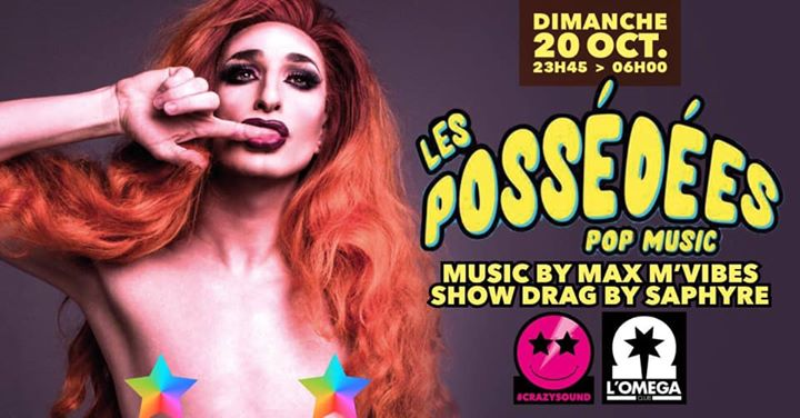 Les PossÉdÉes Pop Music Live Drag Show @L'Oméga Club in Nice le Sun, October 20, 2019 from 11:45 pm to 06:00 am (Clubbing Gay)