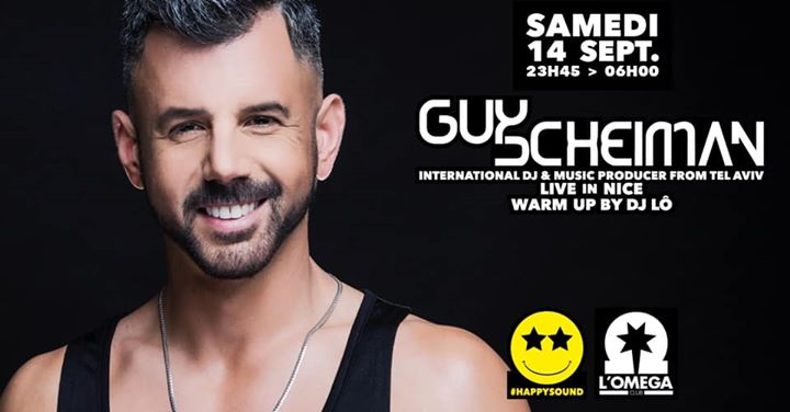 SuperStar Dj GUY SHEIMAN @L'Oméga From Tel Aviv in Nice le Sat, September 14, 2019 from 11:45 pm to 06:00 am (Clubbing Gay)