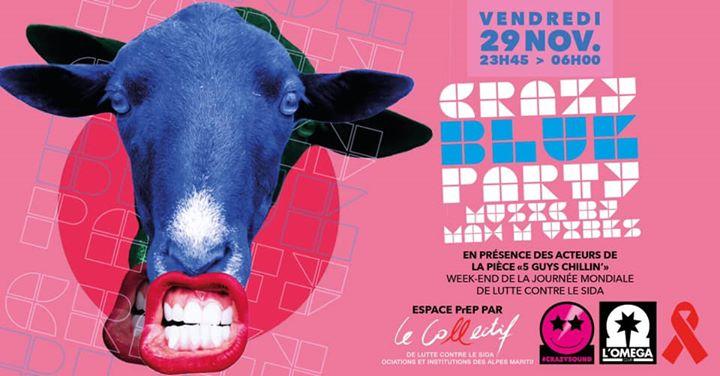 Crazy Blue Party! En partenariat avec le Collectif @L'Oméga em Niça le sex, 29 novembro 2019 23:45-06:00 (Clubbing Gay)