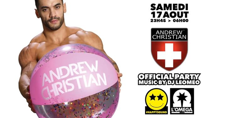 Andrew Christian Official Party @ L'Oméga Club in Nice le Sat, August 17, 2019 from 11:45 pm to 06:00 am (Clubbing Gay)