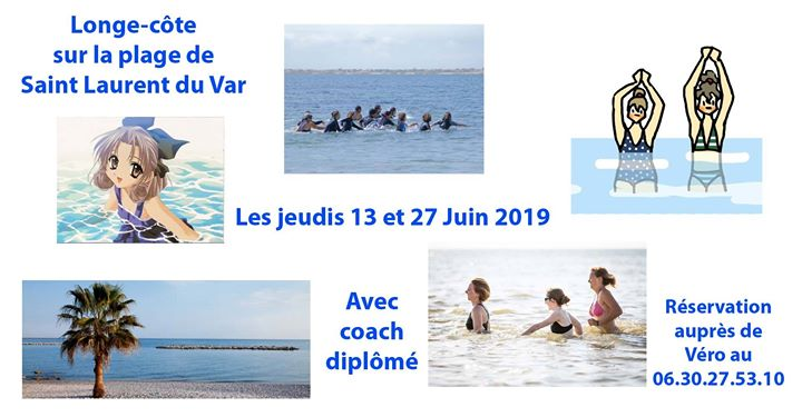 Longe-côte in Saint-Laurent-du-Var le Thu, June 27, 2019 from 07:15 pm to 09:00 pm (Sport Lesbian)