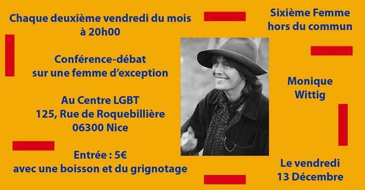 尼斯Femmes d'exception2019年 8月13日,20:00(女同性恋 下班后的活动)