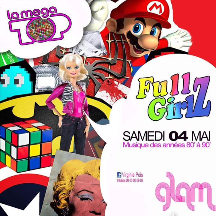 Full GirlZ Mega TOP Années 80 & 90 in Nice le Sat, May  4, 2019 from 11:59 pm to 05:00 am (Clubbing Lesbian)